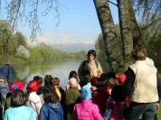 Environmental education with schools, in Meisino Nature Reserve in Turin