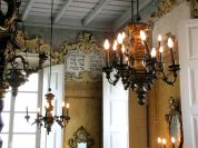 The chandeliers in the prayer hall