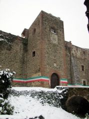 Entrance to Orsini Castle in Rivalta