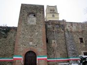 Towers of Rivalta Castle in Turin